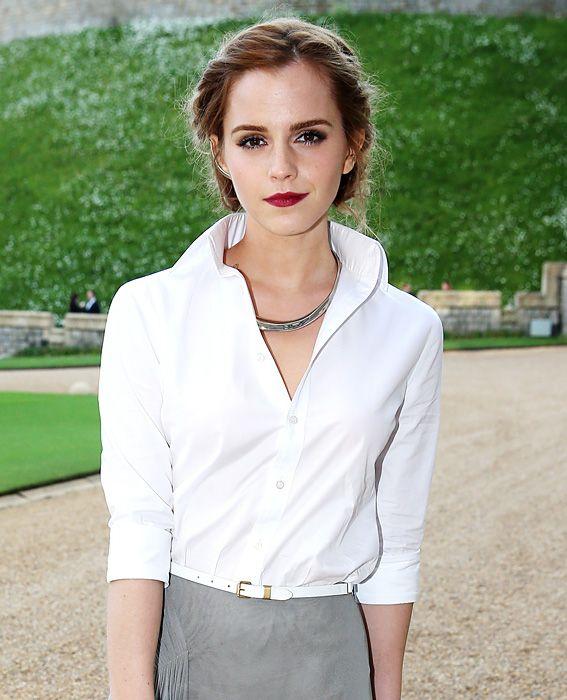 Emma Watson White Shirt