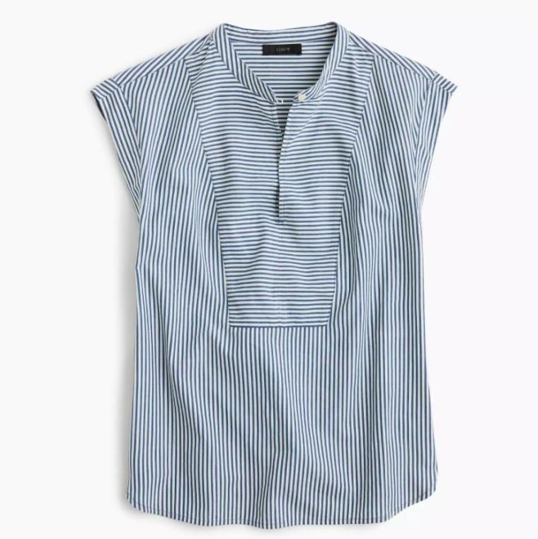 Cap Sleeve Stripe Shirt (2)