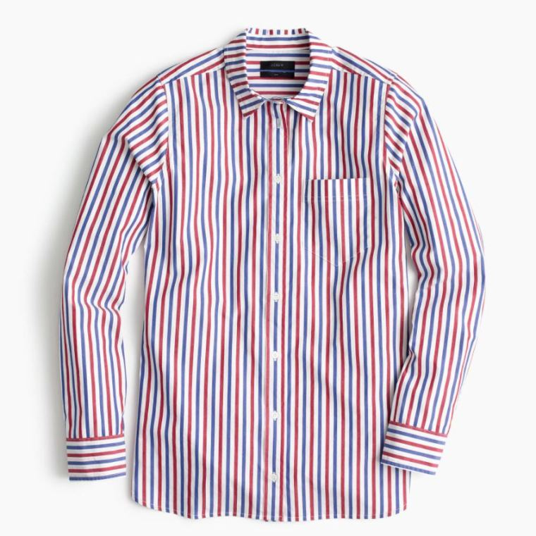 Red and Blue Striped Shirt