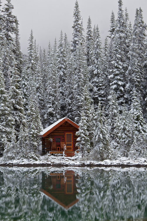 Cabin-House-Snow-Home-Tumblr